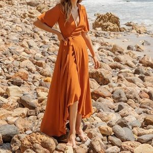 Christy Dawn - Bluebell Dress in Rust XS